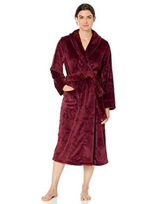 Amazon Essentials Women's Gray Full-Length Plush Robe