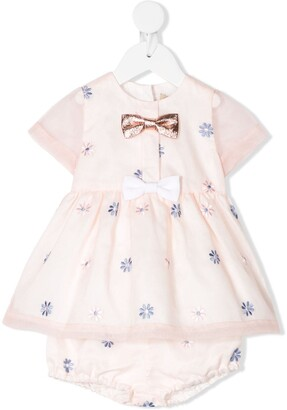 Hucklebones London Mini Bow Dress & Bloomers