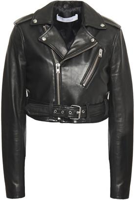 IRO Leufy Cropped Leather Biker Jacket