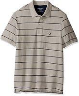 Nautica Men's Big and Tall Short Sleeve Striped Deck Polo Shirt