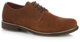 Red Herring Tan Suede Derby Shoes