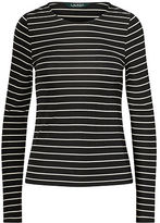 Ralph Lauren Petite Striped Jersey Top