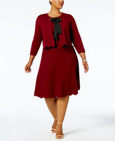 Charter Club Plus Size Scalloped-Hem Jacket & Sweater Dress, Created for Macy's