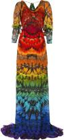 Alexander McQueen Butterfly print gown
