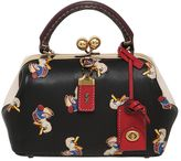 Coach Duck Printed Leather Kisslock Bag