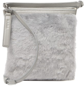 Kara Genuine Calf Fur & Leather Shoulder Bag