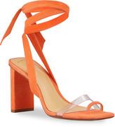 Alexandre Birman Katie Suede Ankle-Wrap Sandals