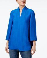 Eileen Fisher Silk Split-Neck Top, Regular & Petite