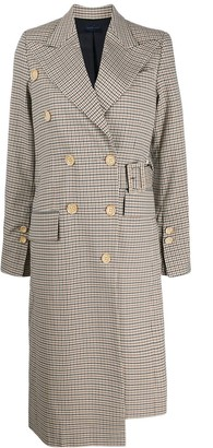 Eudon Choi Checked Pattern Coat