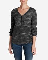 Eddie Bauer Women's Sweatshirt Sweater Henley - Space Dye