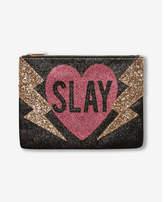Express slay glitter clutch