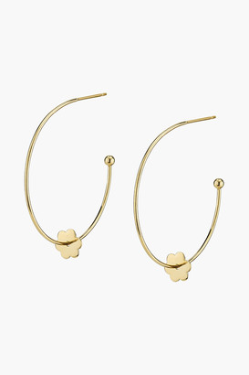 Asha Small Flower Hoop-La Earrings