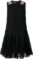 Giambattista Valli embroidered flared dress - women - Cotton/Polyester/Viscose/Shell - 42