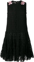 Giambattista Valli embroidered flared dress - women - Cotton/Polyester/Viscose/Shell - 44