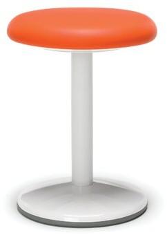 Latitude Run Tice Static Active Stool Seat Color: Orange