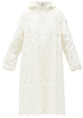 4 Moncler Simone Rocha - Zaleia Broderie-anglaise Technical Hooded Jacket - White