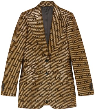 Gucci Cotton silk single-breasted jacket
