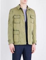 Lardini Faded stretch-cotton field jacket