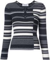 Derek Lam 10 Crosby striped rib knit sweater