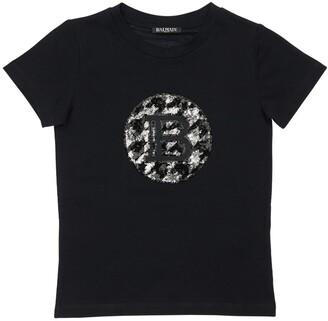 Balmain Sequined Cotton T-shirt