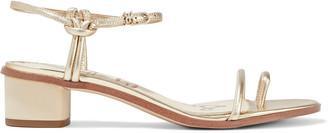 Sam Edelman Isle Metallic Textured-leather Sandals