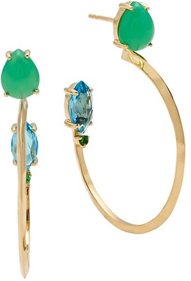 Ippolita Prisma 18K Yellow Gold Gemstone Hoop Earrings
