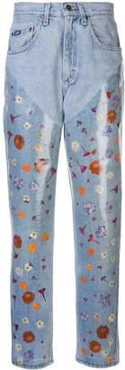 Maryam Nassir Zadeh floral print boyfriend jeans
