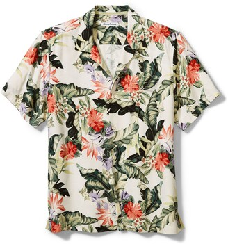 Tommy Bahama Garden of Hope & Courage Short Sleeve Silk Button-Up Shirt