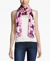 Calvin Klein Garden Rose Silk Oblong Scarf