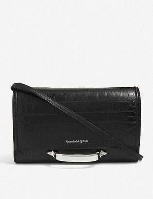 Alexander McQueen Story leather cross-body bag