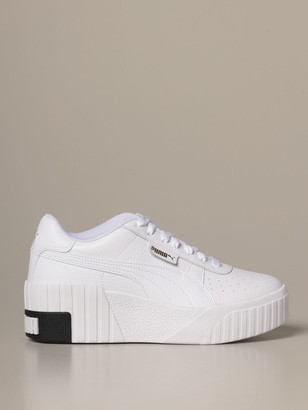 Puma Sneakers Cali Wedge Wns Textured Leather Sneakers