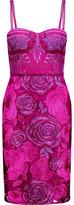 Marchesa Embellished Embroidered Tulle Dress