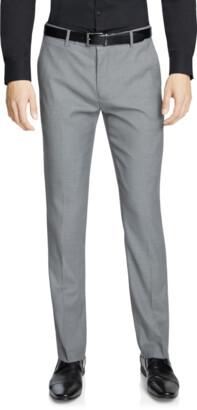 yd. Silver Grey Magnum Slim Stretch Dress Pant