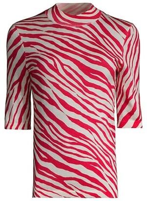 HUGO BOSS Fabanna Zebra-Print Sweater