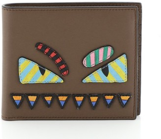 Fendi Monster Bifold Wallet Leather Compact