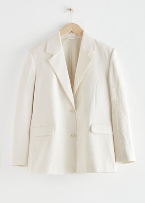 And other stories Linen-Blend Blazer