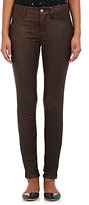 L'Agence Women's Aurelie Leather Leggings-Brown