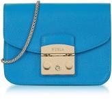 Furla Cerulean Blue Metropolis Mini Crossbody Bag