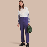 Burberry Cotton Garment-washed Artist Trousers , Size: 52, Blue