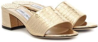 Jimmy Choo Minea 45 metallic leather sandals