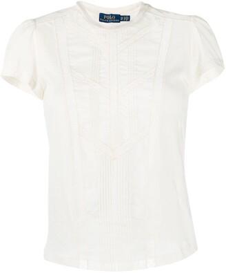 Polo Ralph Lauren lace panelled T-shirt