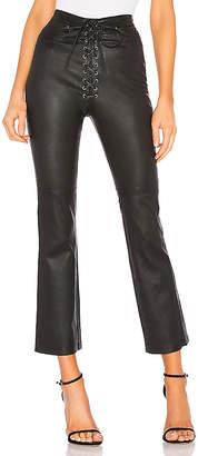 LPA Fei Leather Moto Pants