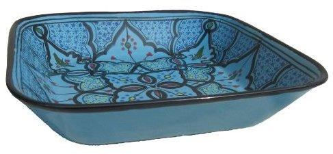 "Le Souk Ceramique Sabrine Design 12"" Square Serving Bowl"