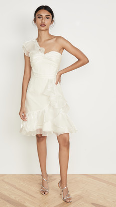 Marchesa One Shoulder Cocktail Dress