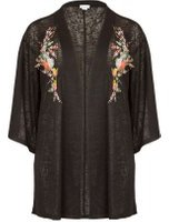 Dorothy Perkins Womens *Blue Vanilla Curve Black Embroidered Cardigan- Black