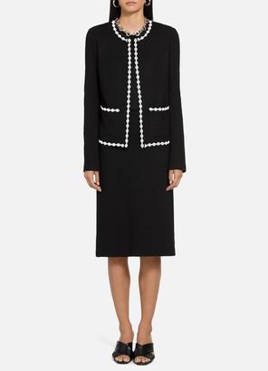 St. John Pebbled Texture Knit Jacket