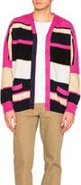 Sacai Stripe Knit Cardigan