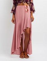 Charlotte Russe Flounce Asymmetrical Maxi Skirt