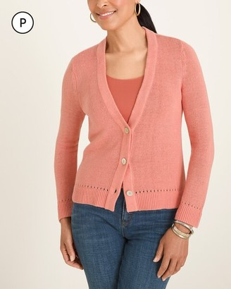 Chico's Petite Button-Front Cardigan