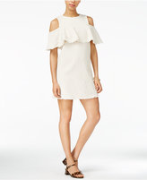 J.o.a. Ruffled Cold-Shoulder Dress